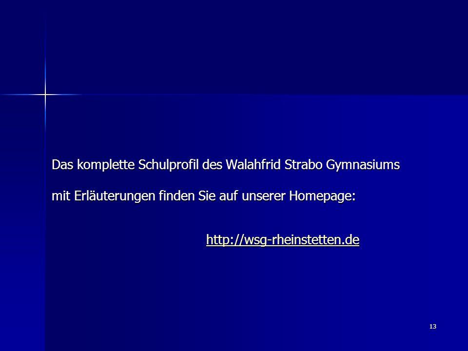 Das komplette Schulprofil des Walahfrid Strabo Gymnasiums