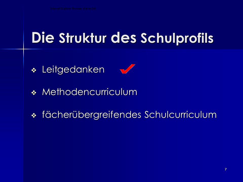 Die Struktur des Schulprofils