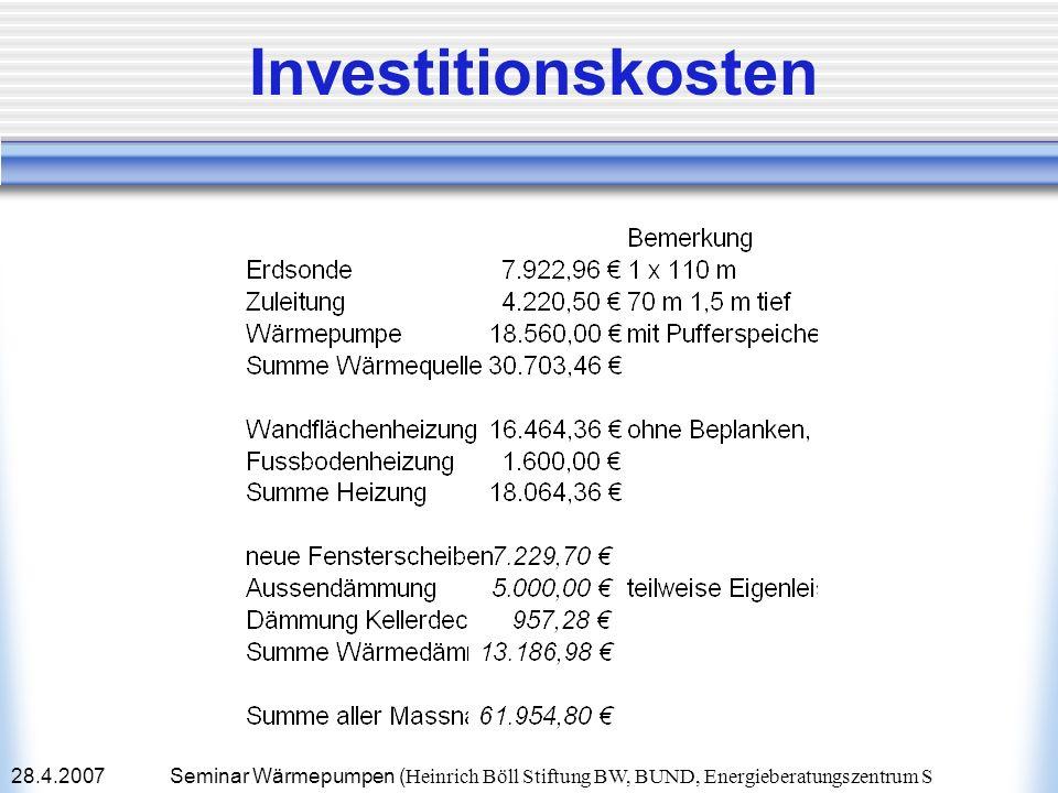 Investitionskosten28.4.2007.
