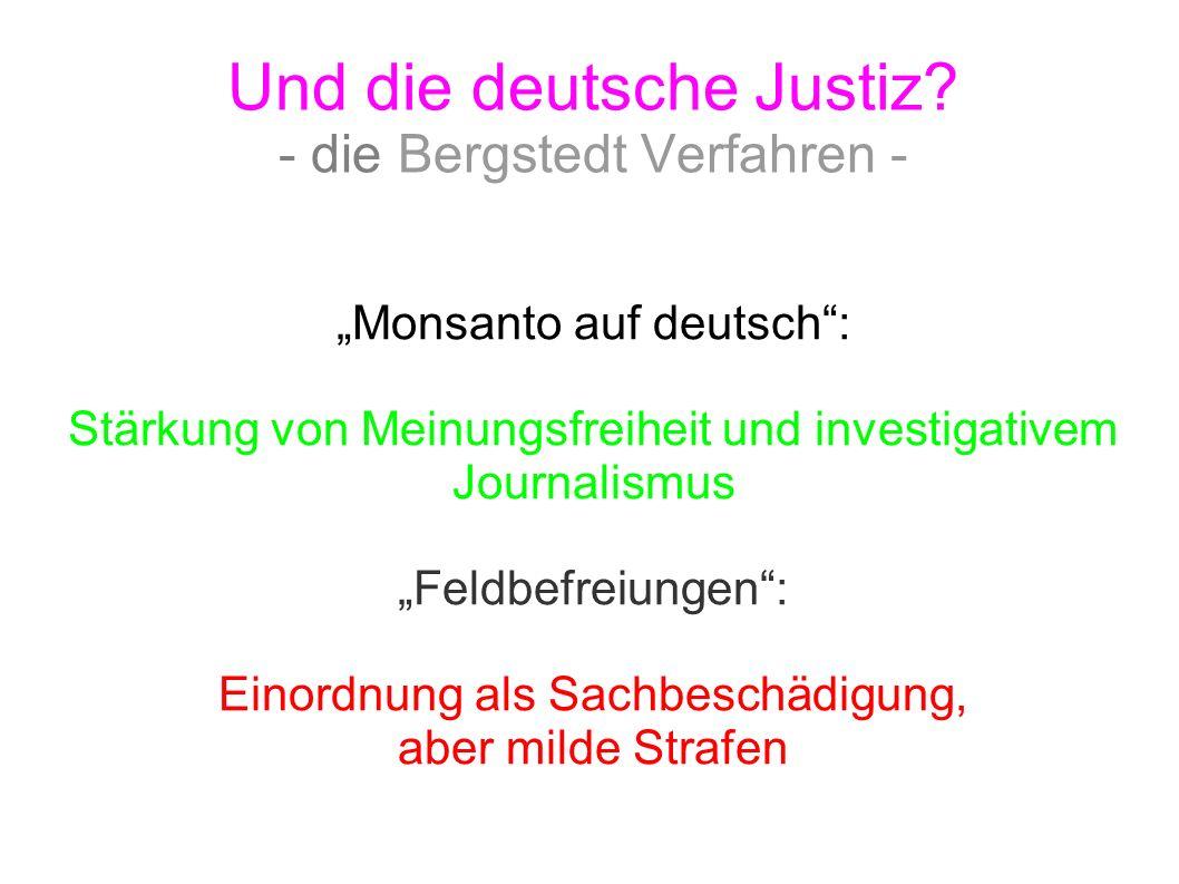 Und die deutsche Justiz - die Bergstedt Verfahren -