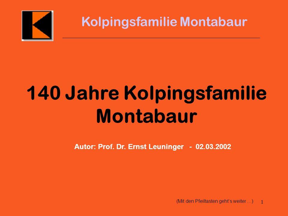 140 Jahre Kolpingsfamilie Montabaur