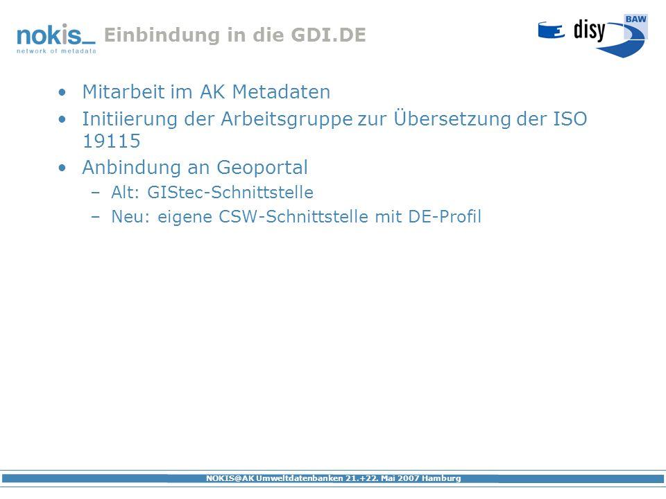 Einbindung in die GDI.DE