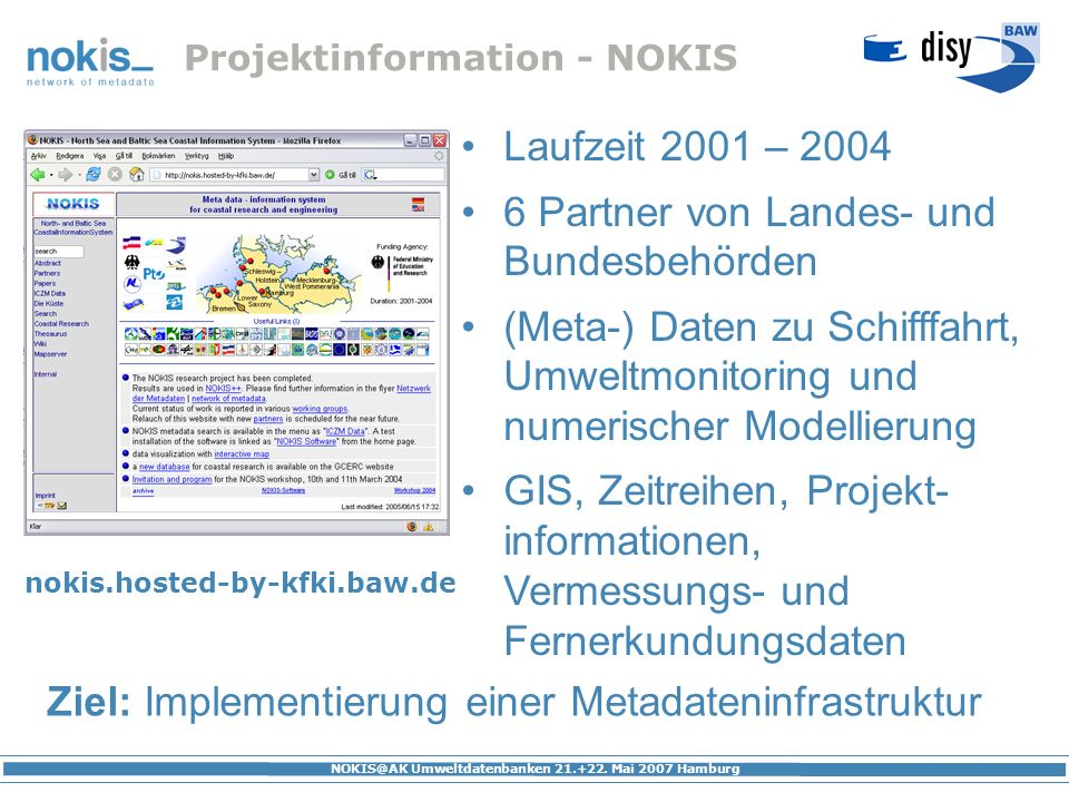 Projektinformation - NOKIS