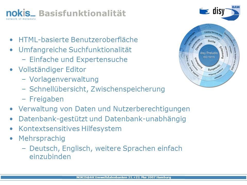Basisfunktionalität HTML-basierte Benutzeroberfläche