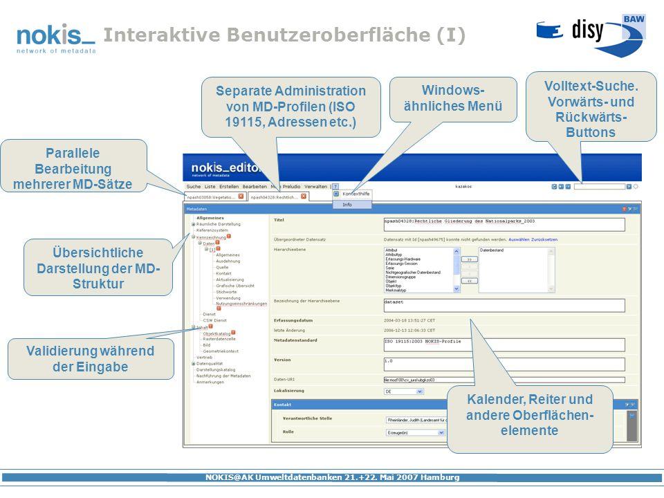 Interaktive Benutzeroberfläche (I)