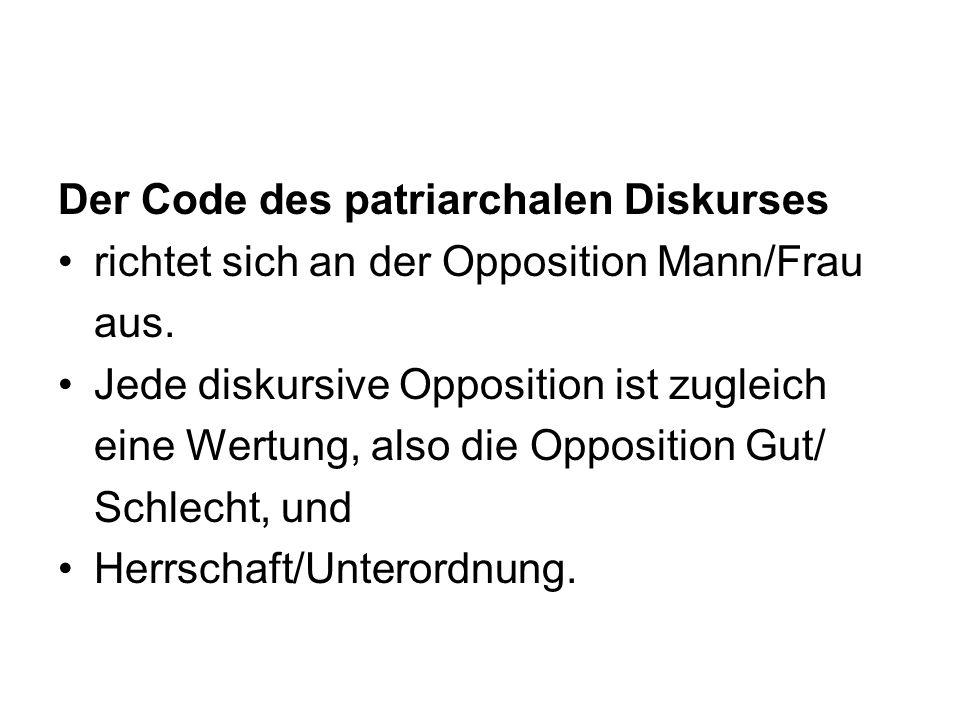 Der Code des patriarchalen Diskurses