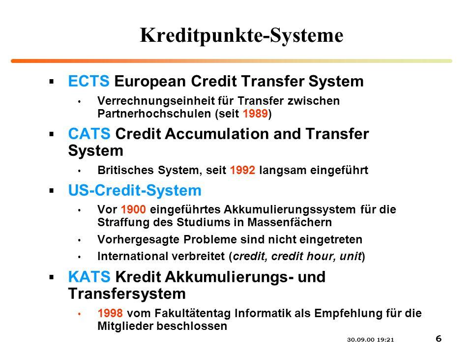 Kreditpunkte-Systeme