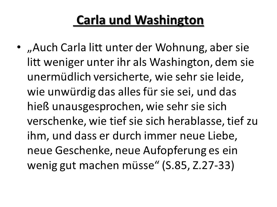 Carla und Washington