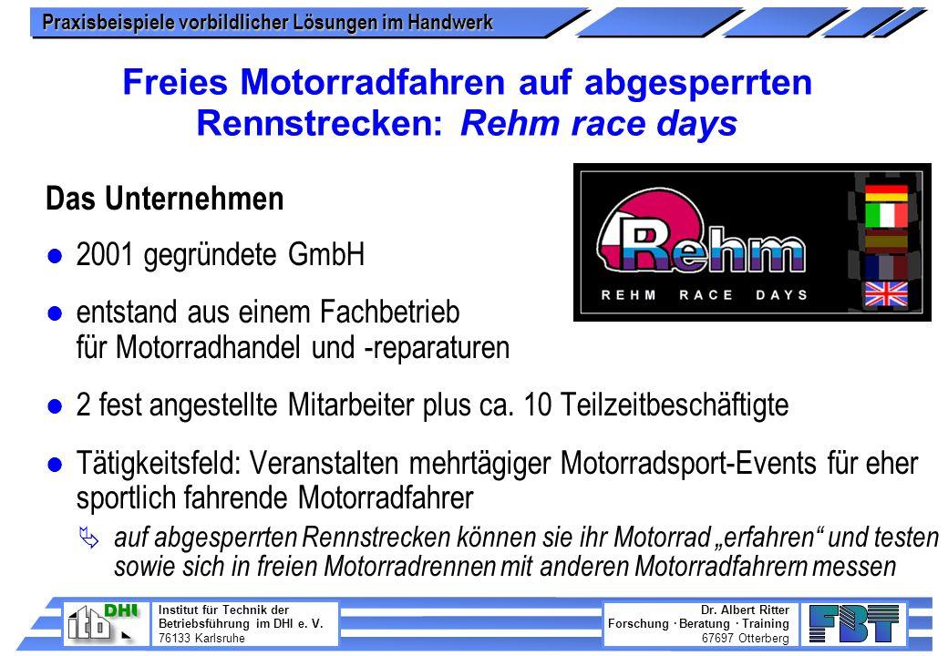 Freies Motorradfahren auf abgesperrten Rennstrecken: Rehm race days