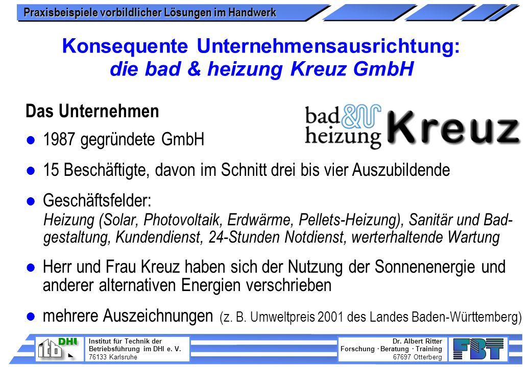 Konsequente Unternehmensausrichtung: die bad & heizung Kreuz GmbH