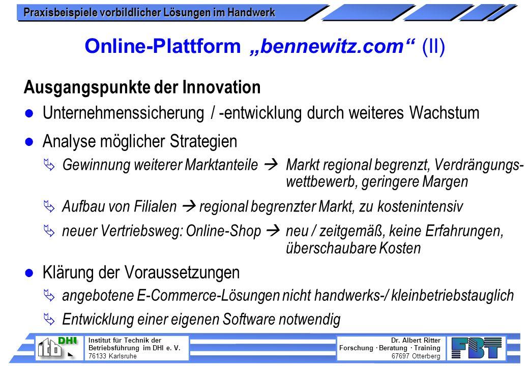 "Online-Plattform ""bennewitz.com (II)"