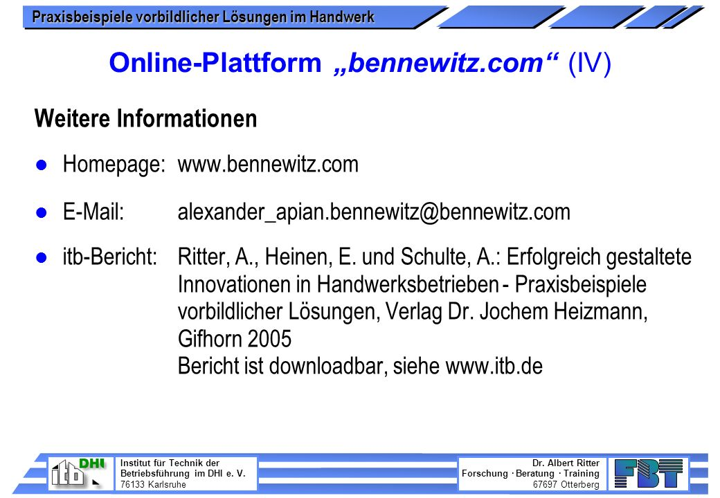 "Online-Plattform ""bennewitz.com (IV)"