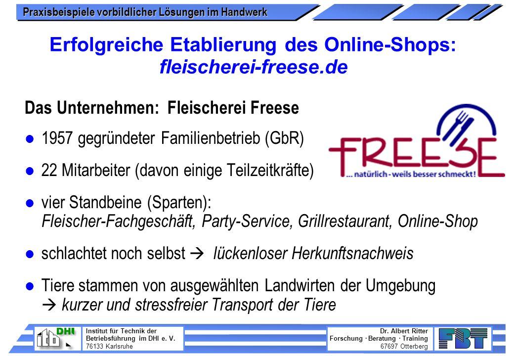 Erfolgreiche Etablierung des Online-Shops: fleischerei-freese.de