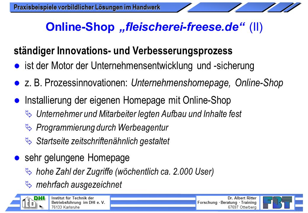 "Online-Shop ""fleischerei-freese.de (II)"