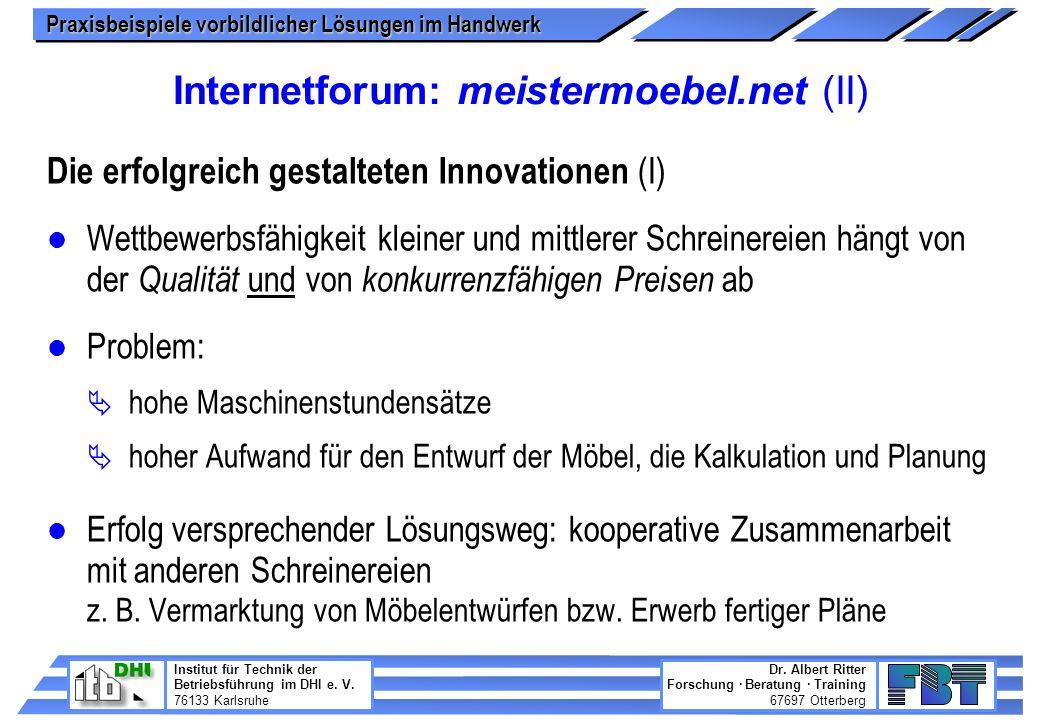 Internetforum: meistermoebel.net (II)