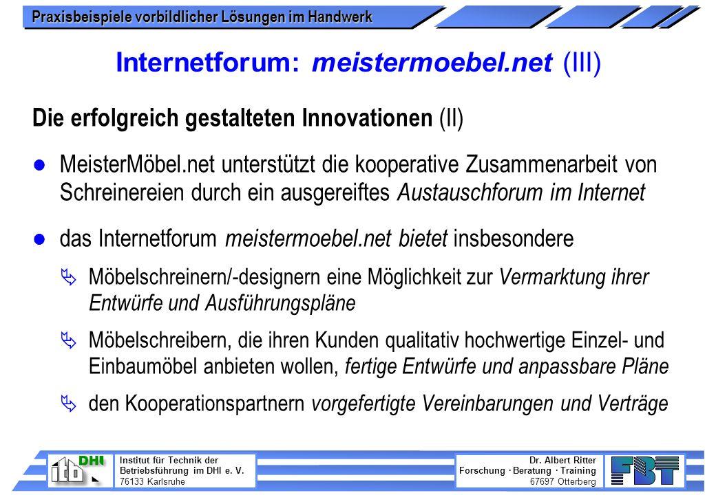 Internetforum: meistermoebel.net (III)