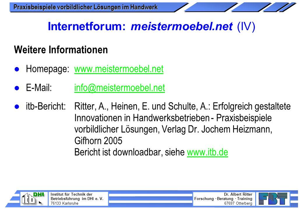 Internetforum: meistermoebel.net (IV)