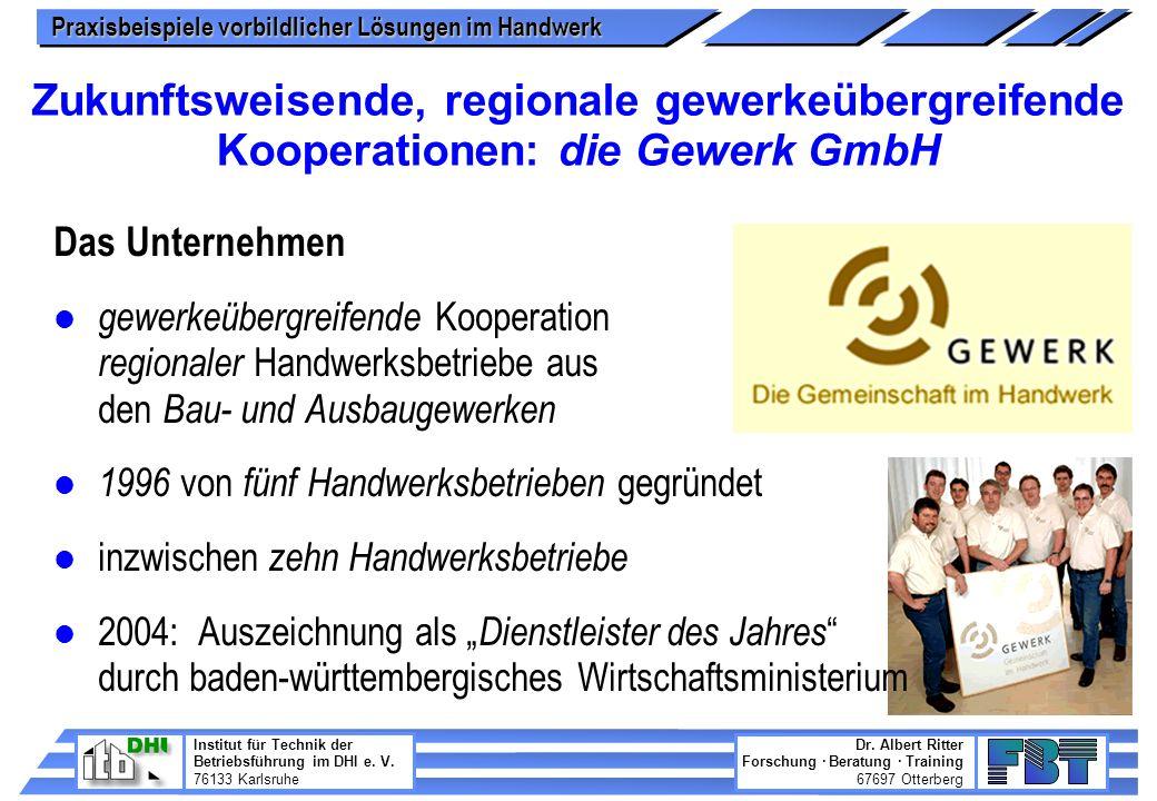Zukunftsweisende, regionale gewerkeübergreifende Kooperationen: die Gewerk GmbH