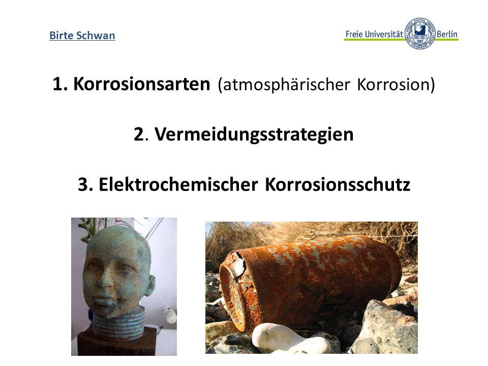 Birte Schwan 1. Korrosionsarten (atmosphärischer Korrosion) 2.