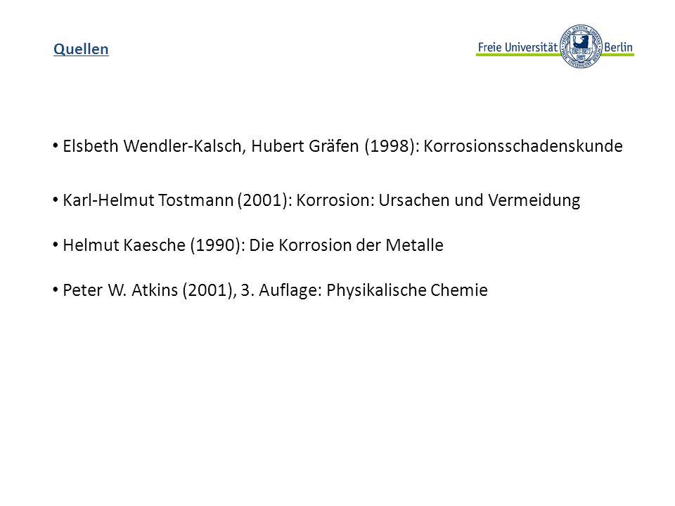 Elsbeth Wendler-Kalsch, Hubert Gräfen (1998): Korrosionsschadenskunde
