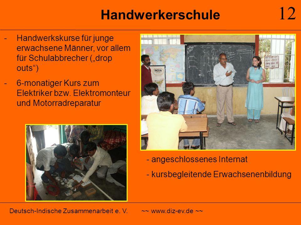 """12 Handwerkerschule. Handwerkskurse für junge erwachsene Männer, vor allem für Schulabbrecher (""""drop outs )"""