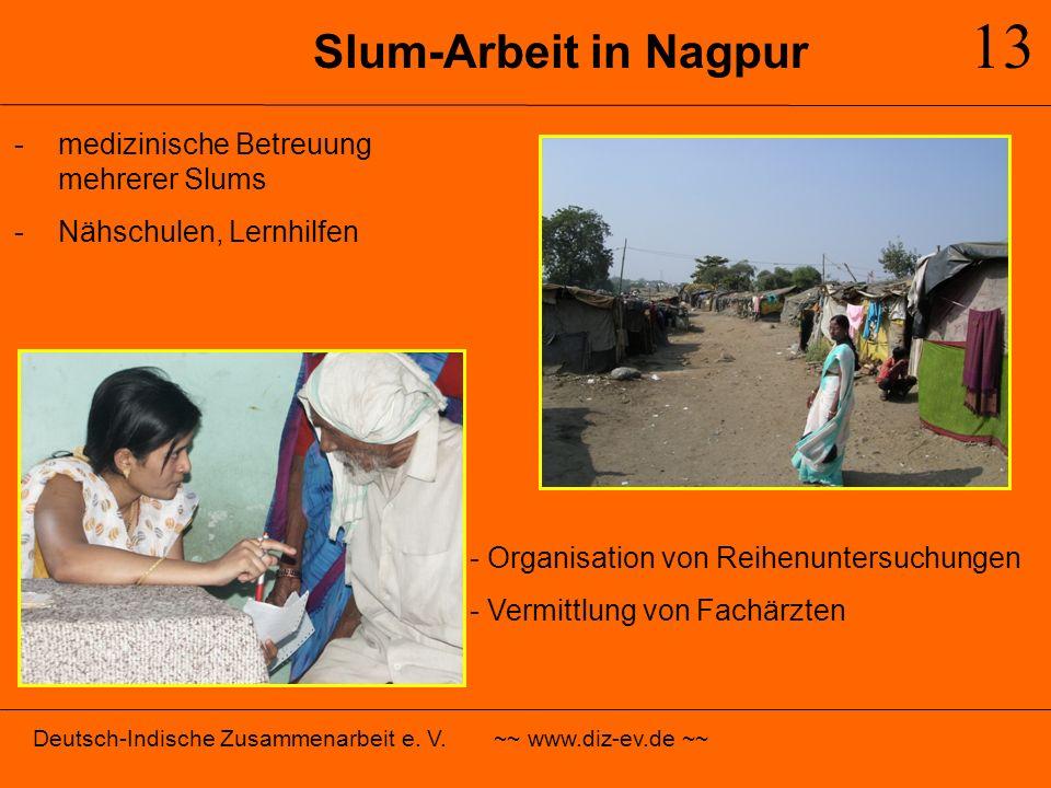 13 Slum-Arbeit in Nagpur medizinische Betreuung mehrerer Slums