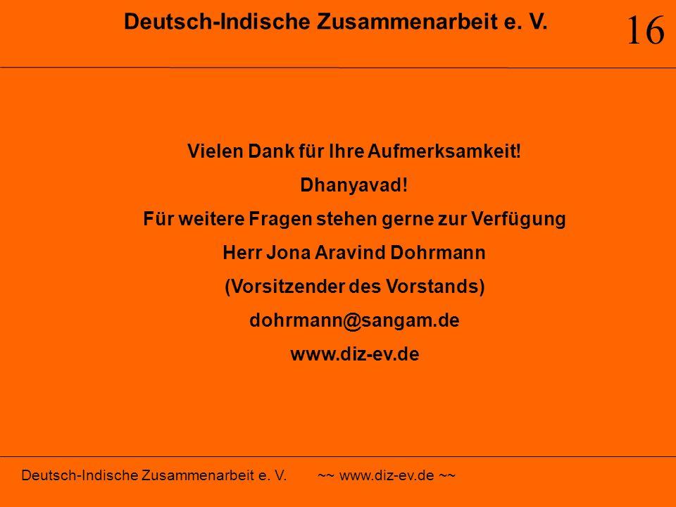 16 Deutsch-Indische Zusammenarbeit e. V.