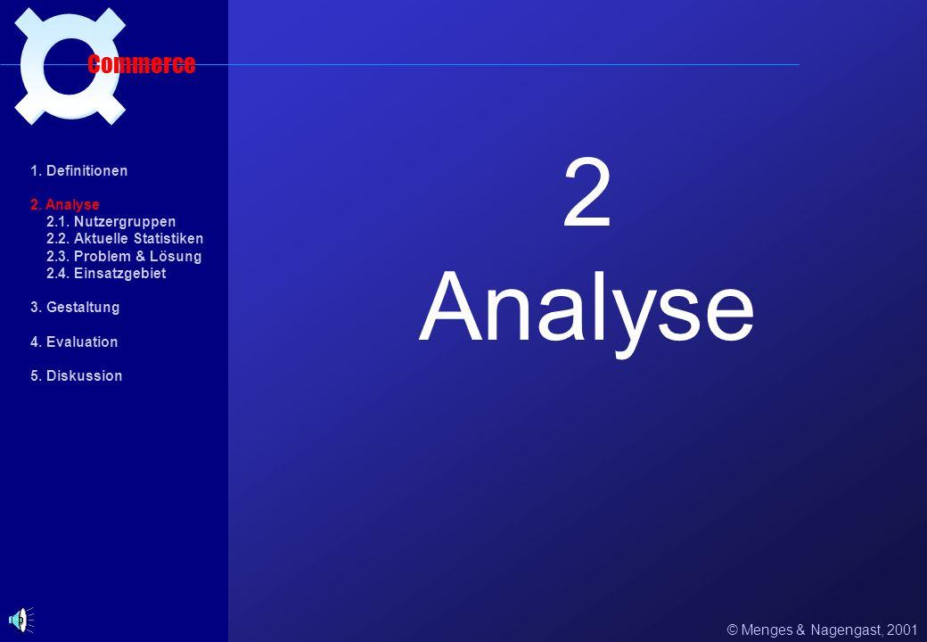 2 Analyse ¤ Commerce 1. Definitionen 2. Analyse 2.1. Nutzergruppen