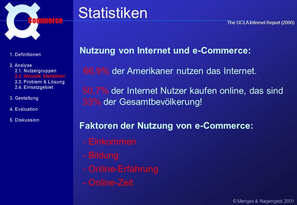 Statistiken ¤ Nutzung von Internet und e-Commerce: