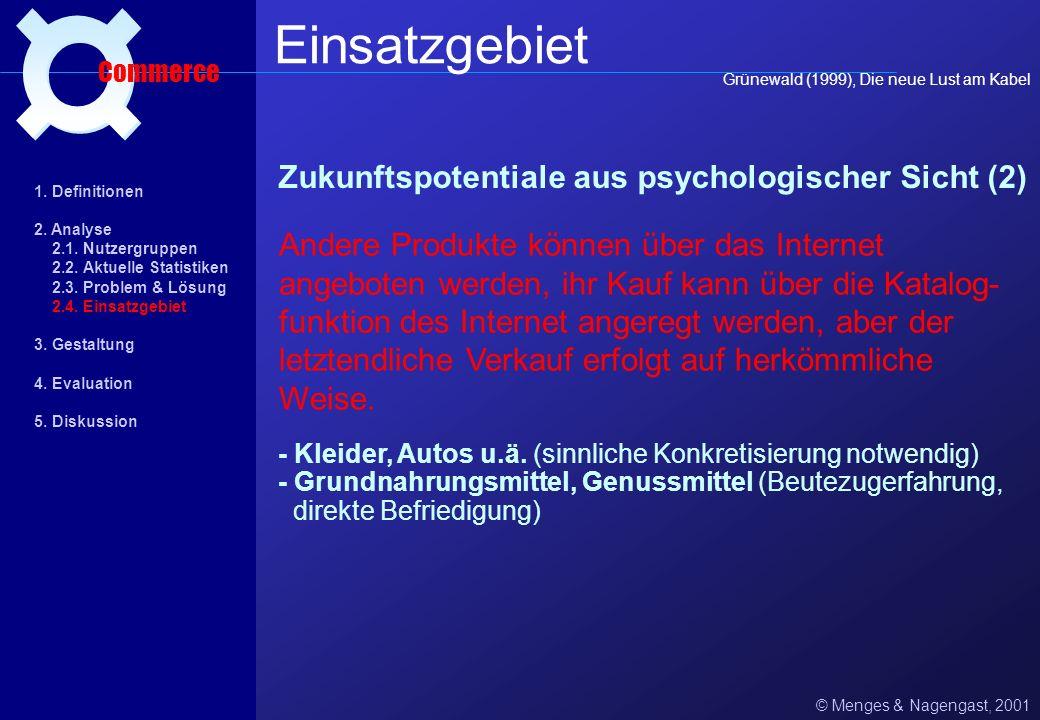Einsatzgebiet ¤ Zukunftspotentiale aus psychologischer Sicht (2)