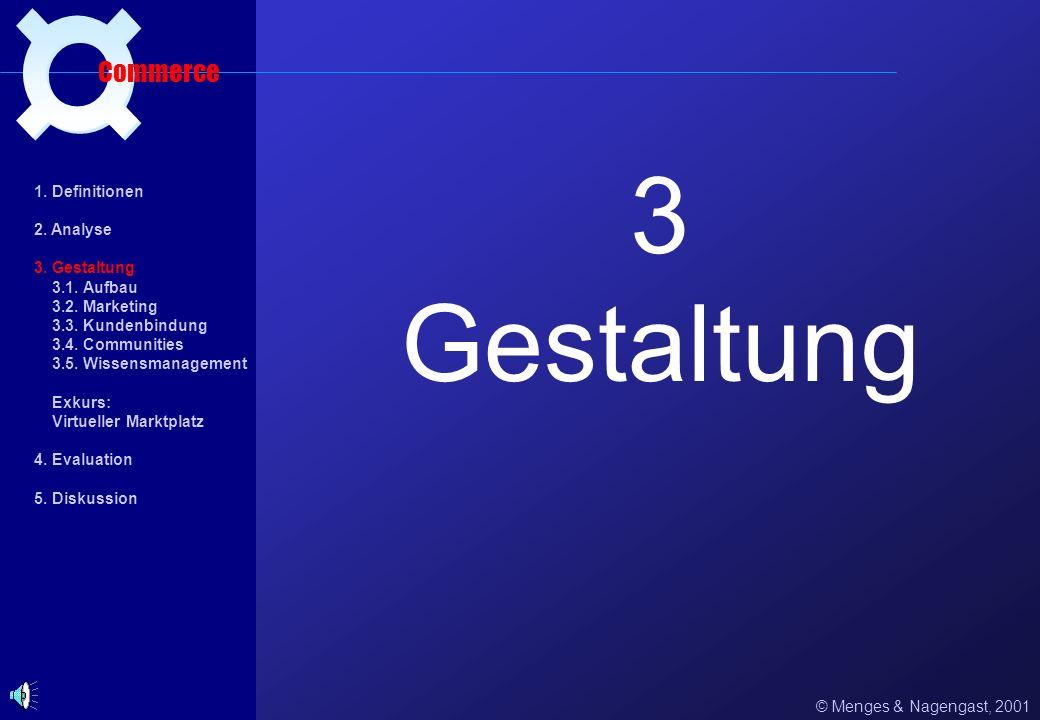 3 Gestaltung ¤ Commerce 1. Definitionen 2. Analyse 3. Gestaltung