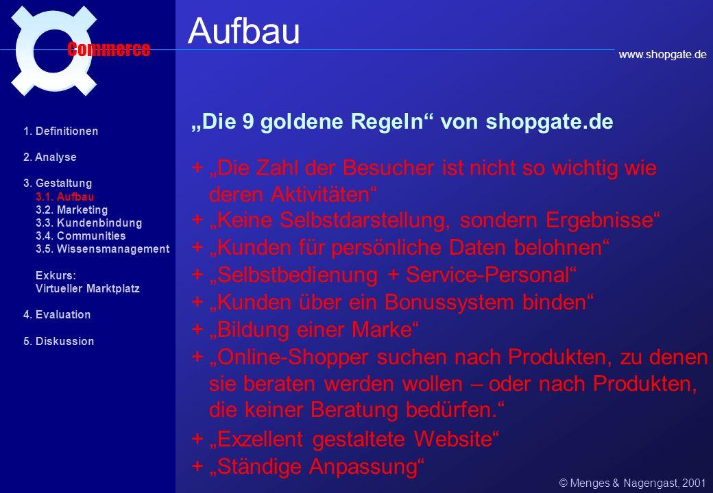 """Aufbau ¤ """"Die 9 goldene Regeln von shopgate.de"""