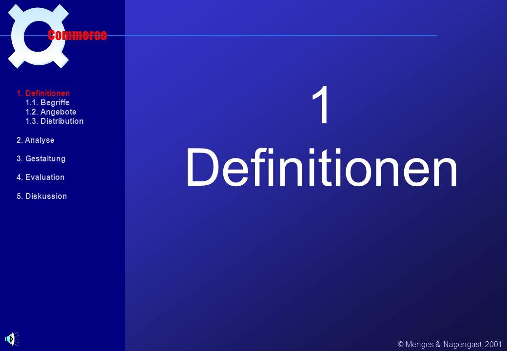 1 Definitionen ¤ Commerce 1. Definitionen 1.1. Begriffe 1.2. Angebote