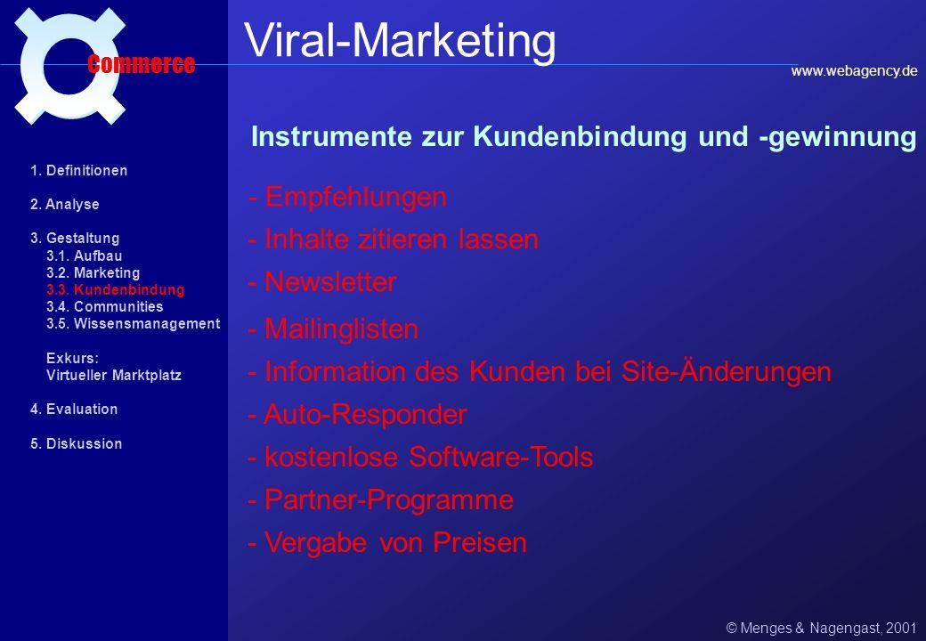 Viral-Marketing ¤ Instrumente zur Kundenbindung und -gewinnung