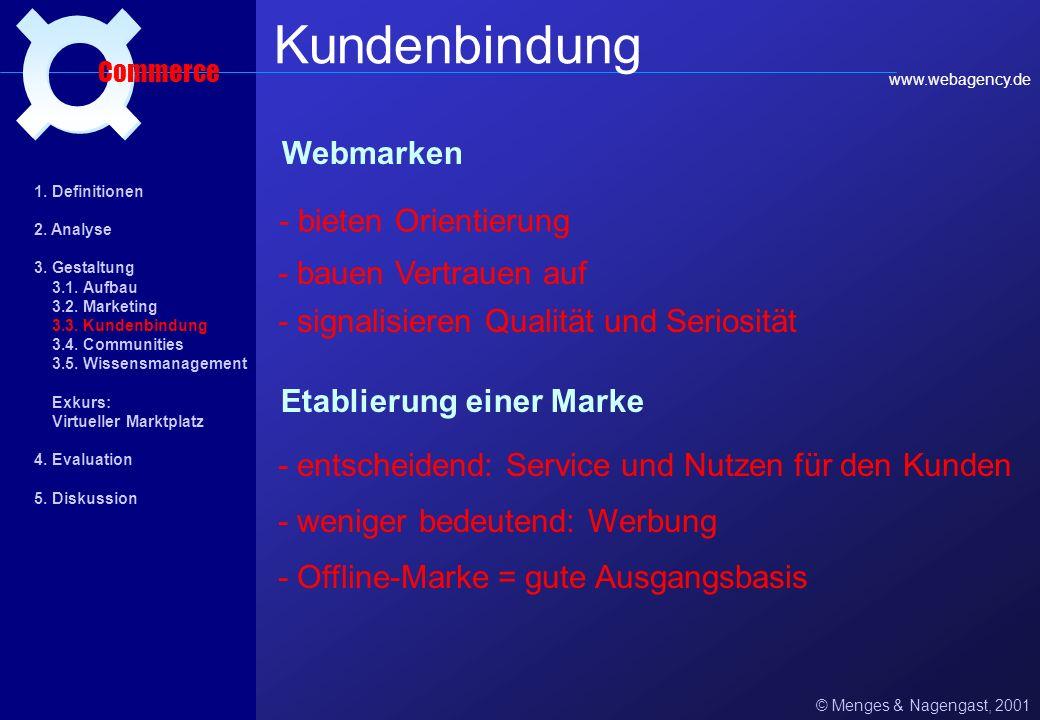 Kundenbindung ¤ Webmarken - bieten Orientierung - bauen Vertrauen auf