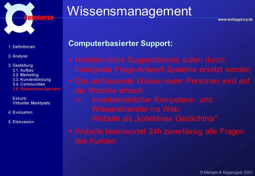 Wissensmanagement ¤ Computerbasierter Support: