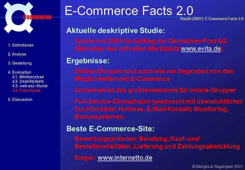 E-Commerce Facts 2.0 ¤ Aktuelle deskriptive Studie: Ergebnisse: