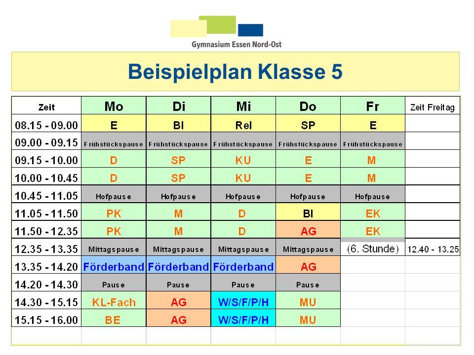 Beispielplan Klasse 5