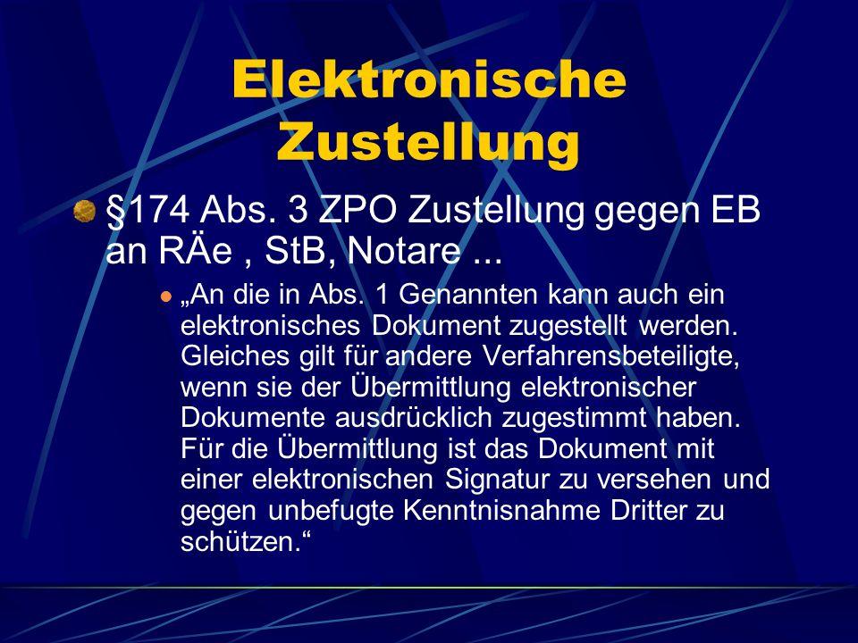 Elektronische Zustellung