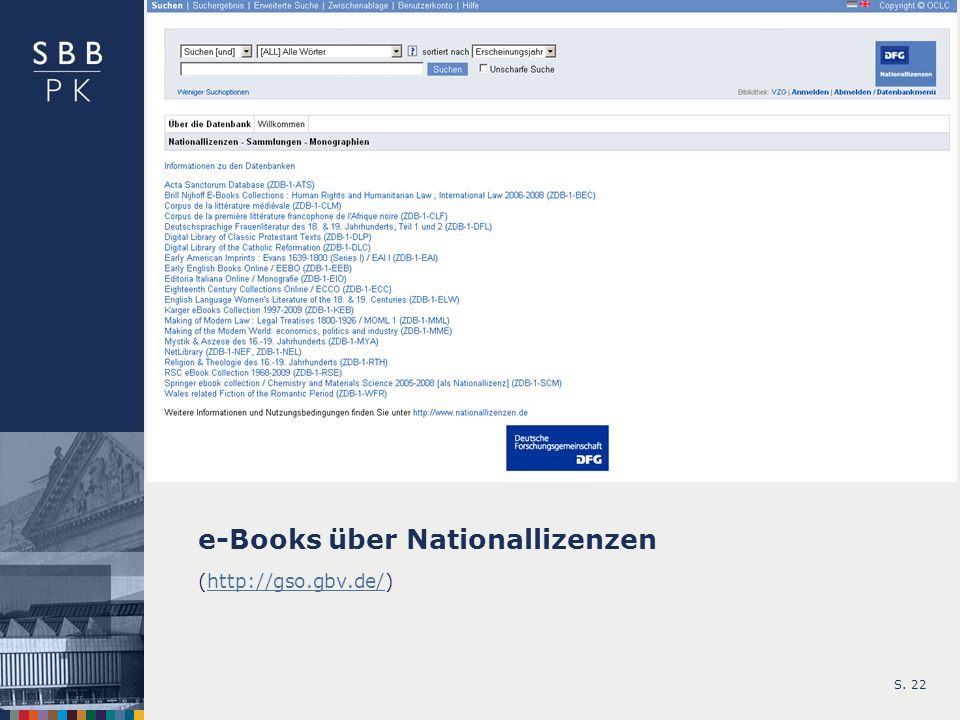 e-Books über Nationallizenzen
