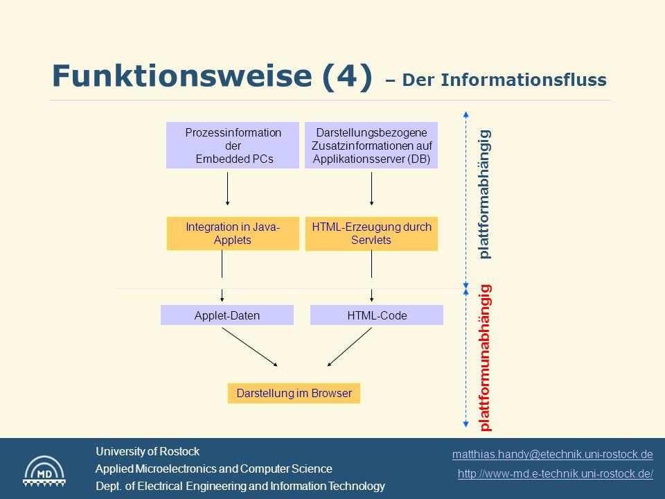 Funktionsweise (4) – Der Informationsfluss