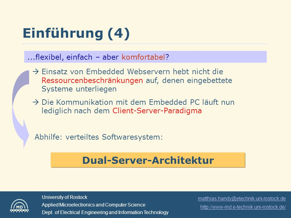 Dual-Server-Architektur