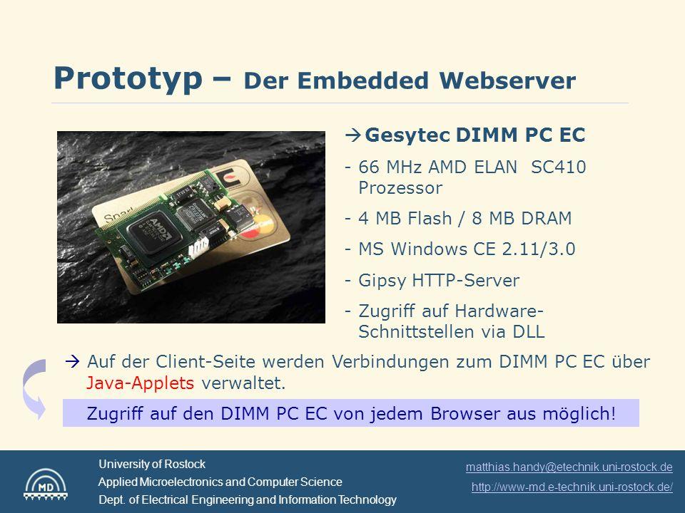Zugriff auf den DIMM PC EC von jedem Browser aus möglich!