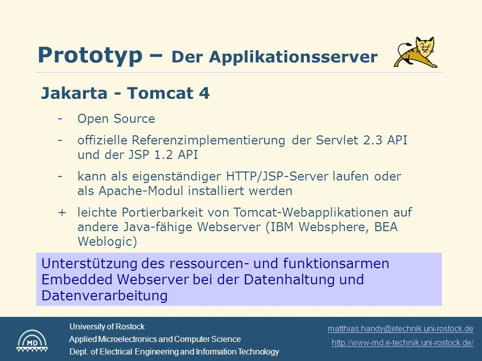 Prototyp – Der Applikationsserver