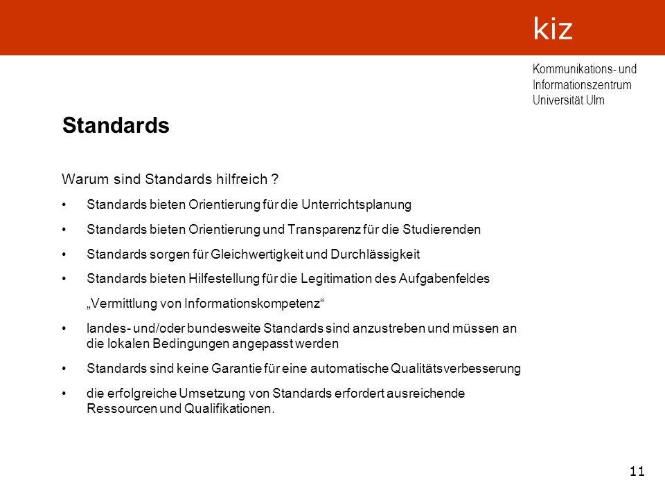 Standards Warum sind Standards hilfreich