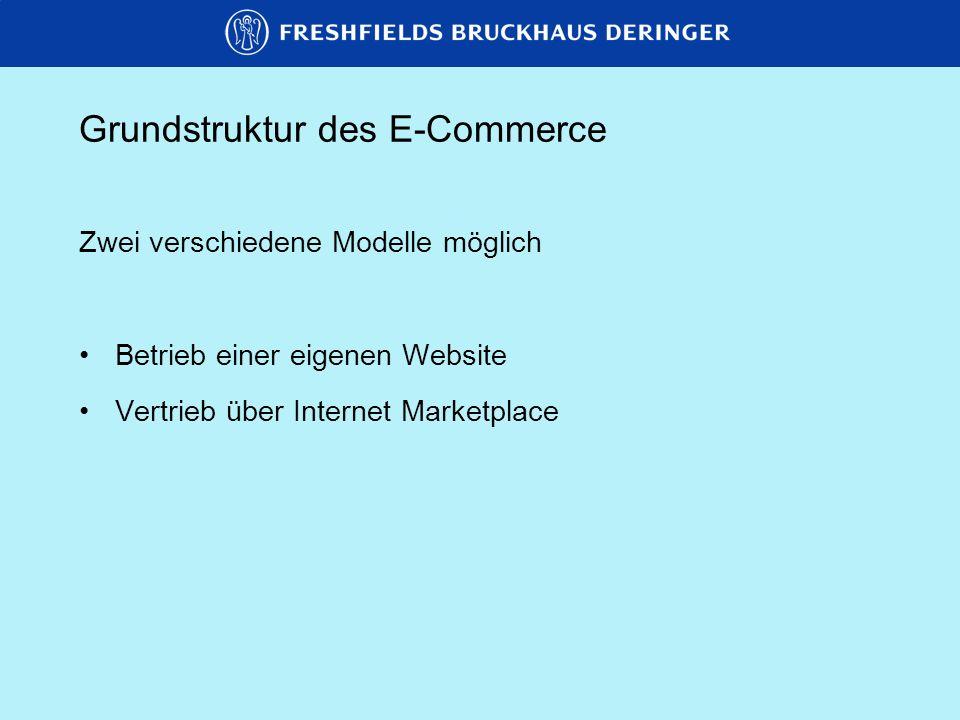 Grundstruktur des E-Commerce