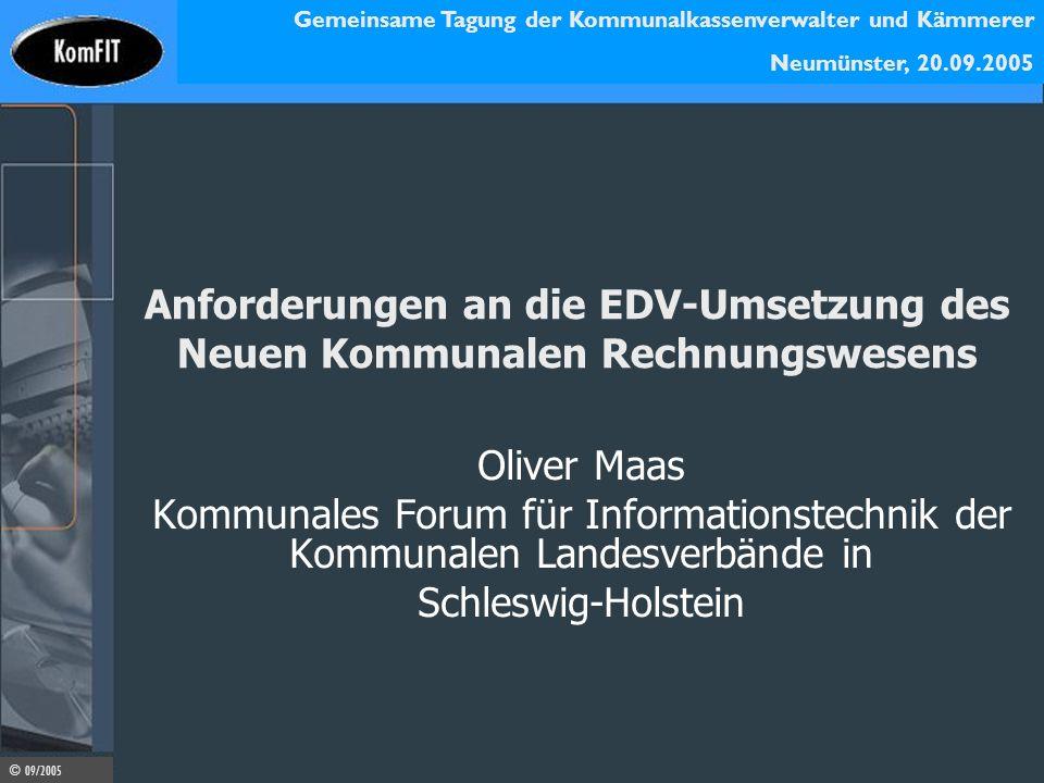Anforderungen an die EDV-Umsetzung des Neuen Kommunalen Rechnungswesens