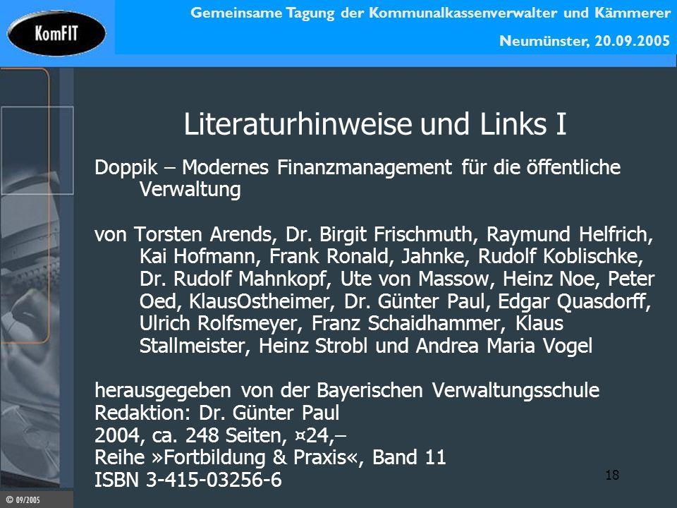 Literaturhinweise und Links I