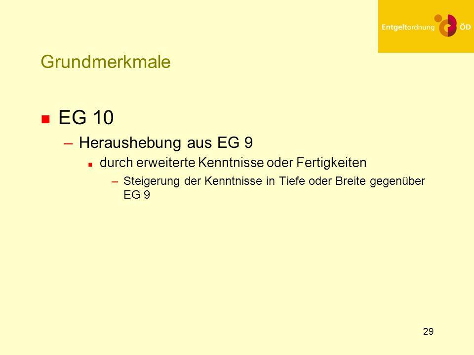 EG 10 Grundmerkmale Heraushebung aus EG 9