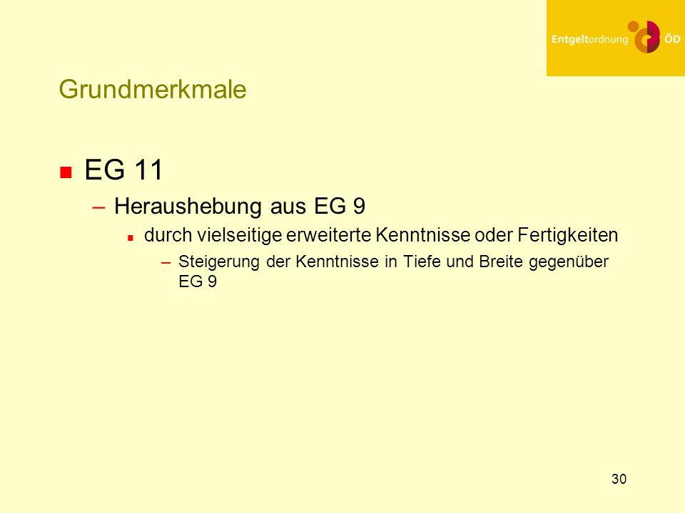EG 11 Grundmerkmale Heraushebung aus EG 9